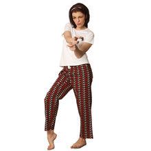 C69- T-shirt with Gun print Pyjamas, m,  red