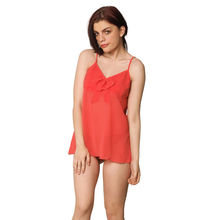 L55- Pleated Camisole with Panties, l,  peach