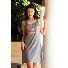C111- Comfy Short Night Dress, s,  grey