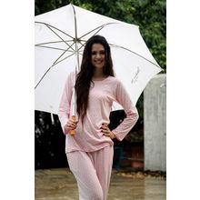 C130- Polka Dots Night Suit, xl,  pink