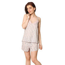 L60- Paisley Print Camisole with Shorts, m,  pink