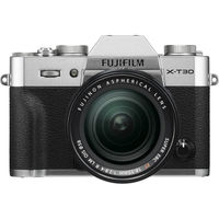 Fujifilm X-T30 Mirrorless Digital Camera with 18-55mm Lens,  Silver
