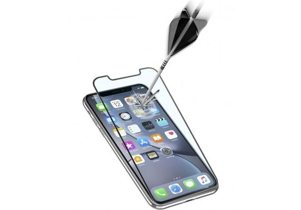 Cellularline Second Glass Ultra Capsule for iPhone XR, Black