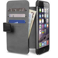 Cellularline CEL-BOOKAGENDAIPH647W Book-style leather-like case with pockets