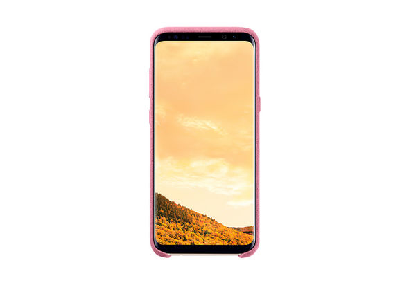 Samsung Galaxy S8+ Alcantara Cover, Pink