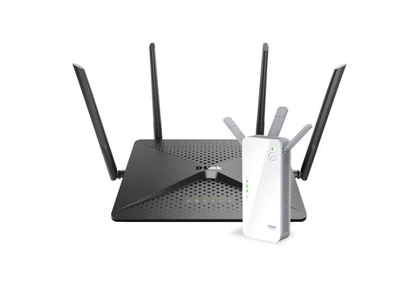 Dlink DIR882 AC2600 MU-MIMO Wi-Fi Gigabit Router+ DAP1720 AC1750 Dual Band Wi-Fi Range Extender