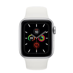 Apple Watch Series 5 44mm Silver Aluminum Case with Sport Band, GPS
