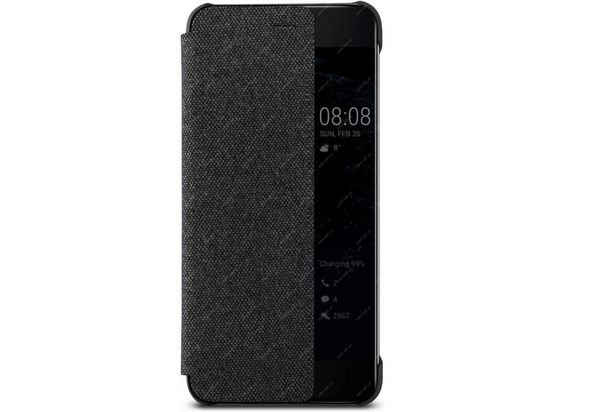 Huawei P10 Plus Smart View Flip Case, Dark Grey