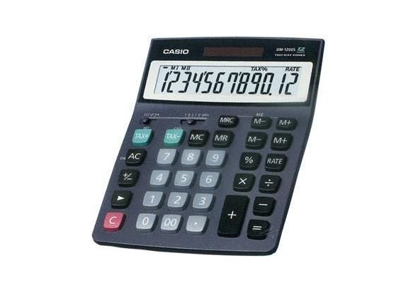 Casio DM1200S-R Desk-Top Type Calculator