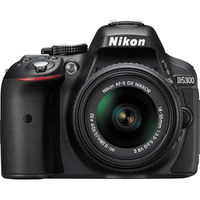 Nikon D5300 DSLR Camera with 18-55mm Lens, Black