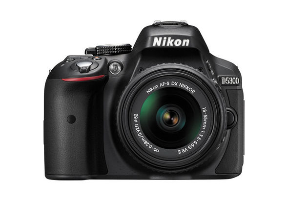 Nikon D5300 DSLR Camera with 18-55mm Lens, Black