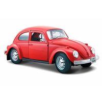Maisto Volkswagen Beetle Hard Top Diecast Model Toy Car, Red