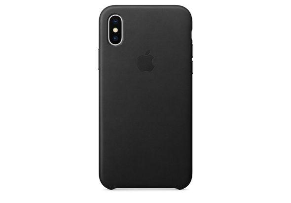 Apple iPhone X Leather Case, Black