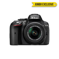 Nikon D5300 DSLR Camera with 5300+ 18-55+ 70-300 Lens, Black