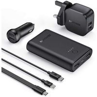 Rav Power RP-PB210-BK 6 in 1 Prime Power Bank Combo - Black