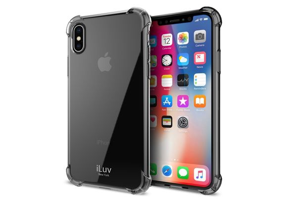 iLuv Gelato Anti Shock Soft Flexible Case for iPhone X, Black