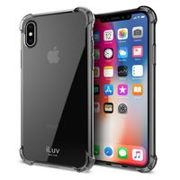 iLuv Gelato Anti Shock Soft Flexible Case for iPhone X, Clear