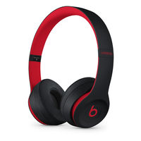 Beats Solo3 Wireless On-Ear Headphones The Beats Decade Collection, Defiant Black-Red