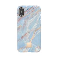 Happy Plugs Protective Case for iPhone X, Blue Quartz