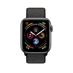 Apple Watch Series 4 with Cellular 44mm Space Gray Aluminum Case with Black Sport Loop