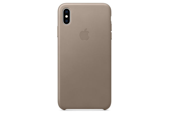 Apple iPhone XS Leather Case,  Taupe