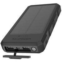 Rav Power RP-PB124-BK 15000 mAh Solar Portable Charger With I Smart Black