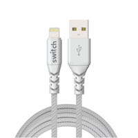 Switch Ultra Rugged USB-A To MFI Lightning Charge and SYNC Cable 1.2M, White