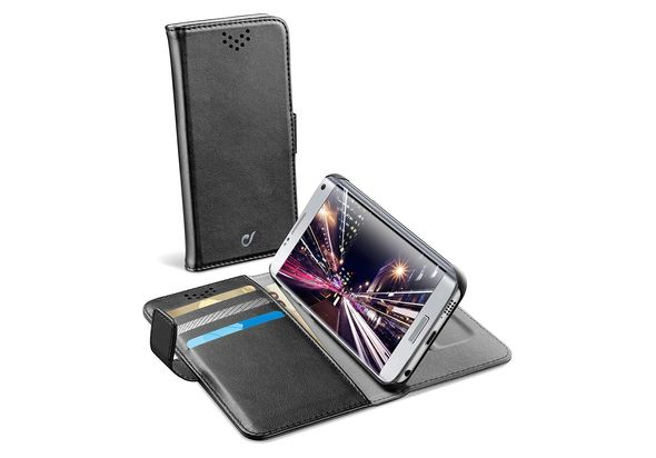 Cellularline Book Agenda Case With Stand For Galaxy S7, Black