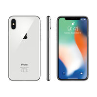 Apple iPhone X Smartphone LTE with FaceTime,  Silver, 64 GB