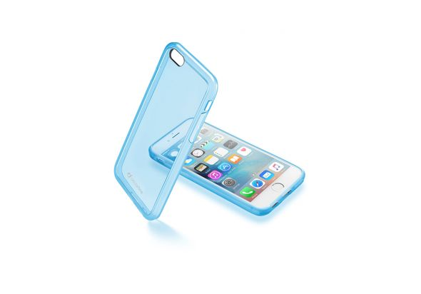 Cellularline Clear Color Hard Case For iPhone 6/6S, Blue