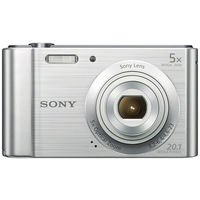 Sony Cyber-shot DSC-W800 Digital Camera, Silver