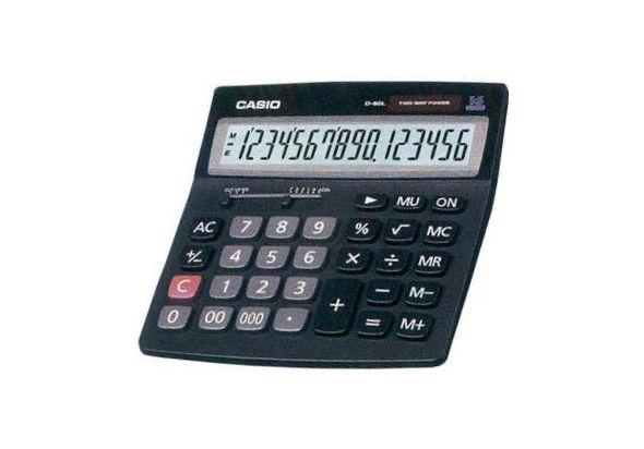 Casio D-60L Desk-Top Type Calculator