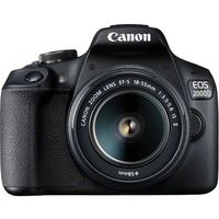 Canon EOS 2000D 18-55 IS+ 75-300 DC Lens DSLR Camera