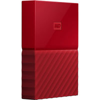 WD 2TB My Passport USB 3.0 Secure Portable Hard Drive, Red