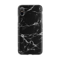 Happy Plugs iPhone X Slim Case, Black Marble
