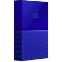 WD 4TB My Passport USB 3.0 Secure Portable Hard Drive, Blue