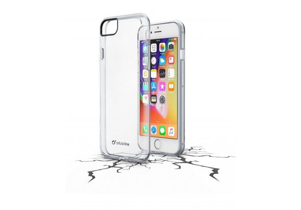 Cellularline Hard Case Clear Duo Case for Iphone 7/8, Clear