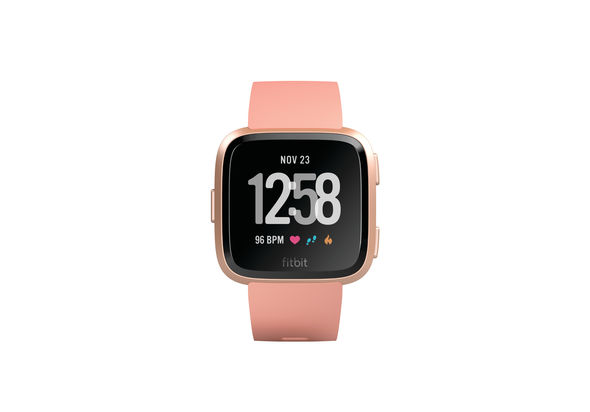 Fitbit Versa Fitness Watch, Peach/Rose Gold Aluminum
