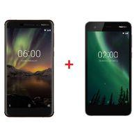 Nokia 6.1 Black Copper+ Nokia 2 Black