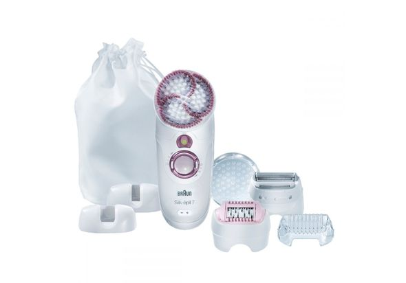 Braun Silk epil 7 SkinSpa - 7951 Wet&Dry Cordless Legs, Body, and Face Epilator and Sonic Exfoliation Brush with 5 attachments