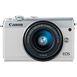 Canon EOS M100 with EF-M 15-45 mm Lense, White