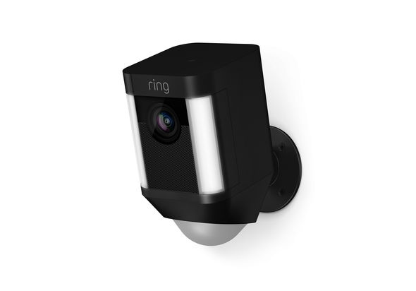 Ring Spotlight Cam 1080p Outdoor Wi-Fi Camera with Night Vision, Black