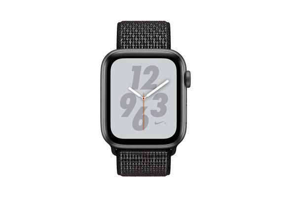 Apple Watch Nike+ Series 4 44mm Space Gray Aluminum Case with Black Nike Sport Loop