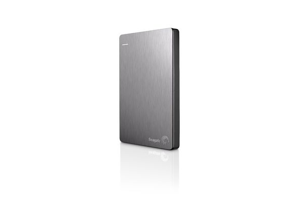 Seagate 1TB Backup Plus Slim Hard Disk,  silver