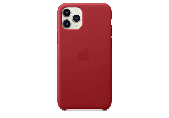 Apple iPhone 11 Pro Leather Case, (PRODUCT) RED