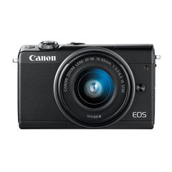 Canon EOS M100 with EF-M 15-45 mm Lens, Black