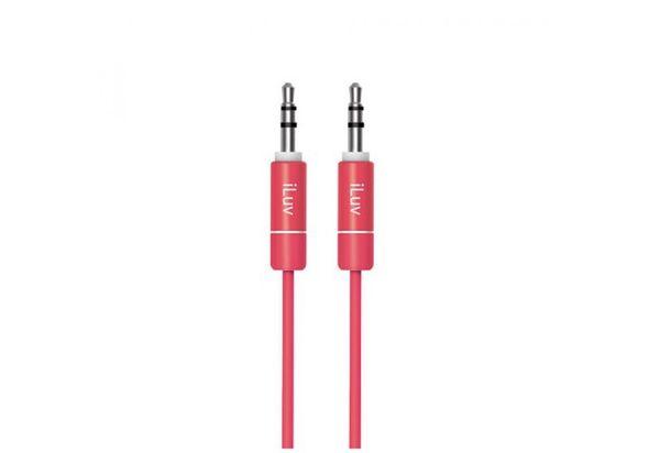 iLuv Premium Aux-In Audio Cable, Red