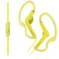 Sony MDRAS210AP Sport In-ear Headphones, Lime Yellow