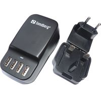 Sandberg 4in1 USB AC Charger 6.8A EU+ UK