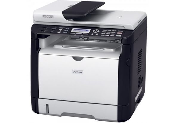 Ricoh SP 311SFNw Black and White Laser Multifunction Printer